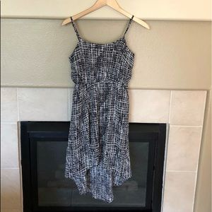 Static Print High-Low Dress
